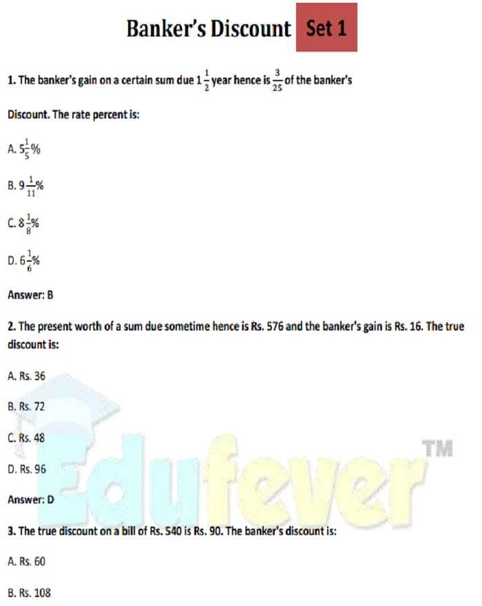 Bankers Discount (Example)