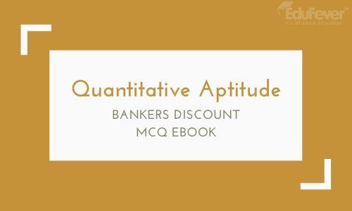 Bankers Discount MCQ eBook