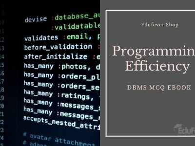 Programming Efficiency Test: DBMS MCQ eBook