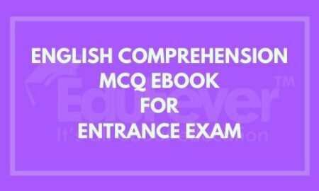 English Comprehension MCQ EBook For Entrance Exams