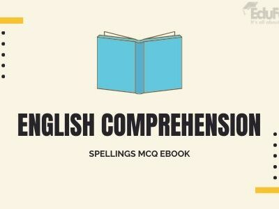 English Comprehension Spellings MCQ eBook