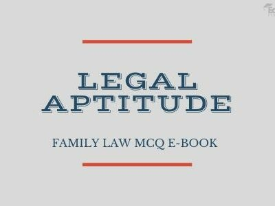 Legal Aptitude: Family Law MCQ eBook