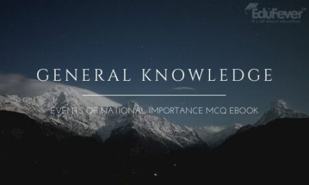 General Knowledge Events of National Importance MCQ eBook
