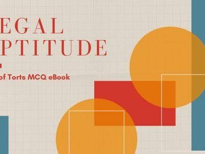 Legal Aptitude: Law of Torts MCQ eBook