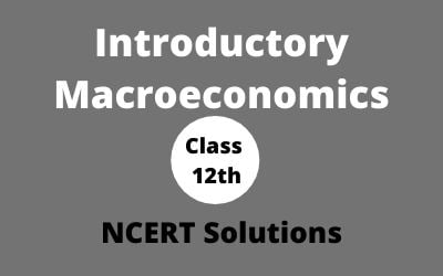 Download Free Class 12th Introductory Macroeconomics NCERT Solution 2020-21 in PDF