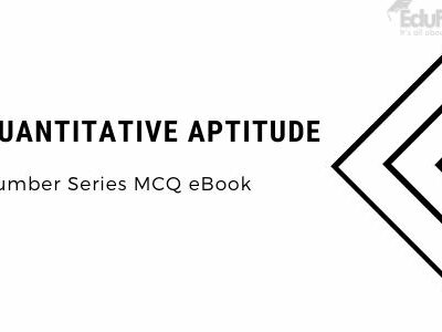 Quantitative Aptitude: Number Series MCQ eBook