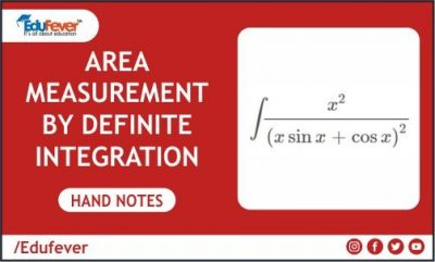 Area Measurement By Definite Integration Hand Written Notes