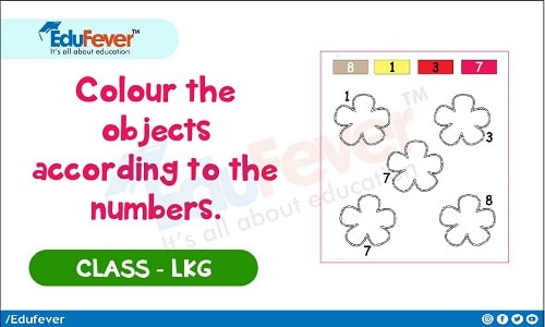 Color The Objects According To The Numbers