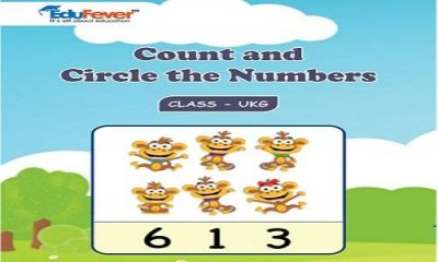 Count and Circle the Number UKG Worksheets