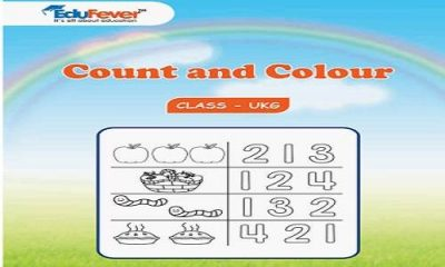 Count and Colour UKG Worksheets