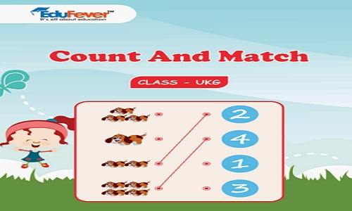 Count and Match UKG Worksheets