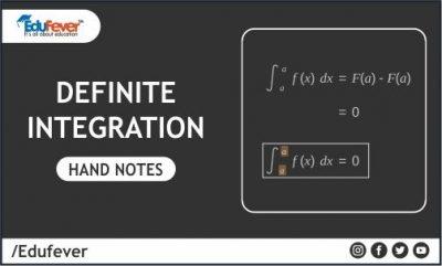 Definite Integration Hand Written Notes