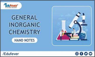 General Inorganic Chemistry hand Written Notes
