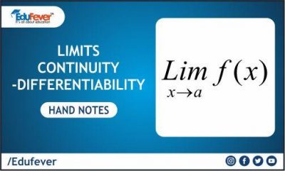 Limit Continuity & Differentiability Hand Written Notes