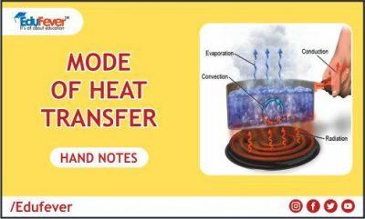 Mode of Heat Transfer Hand Written Note