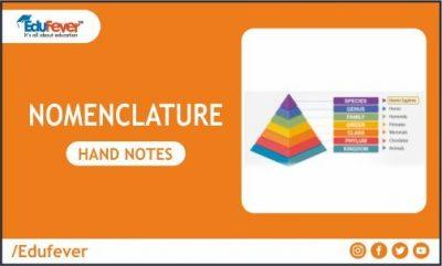 Nomenclature Hand Written Notes