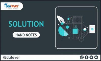 Solution hand Written Notes