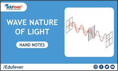 Wave Nature of Light hand Written Notes