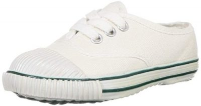 BATA Unisex Kid's White School Shoes