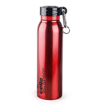 Cello Beatle Stainless Steel Flask 550ml Red