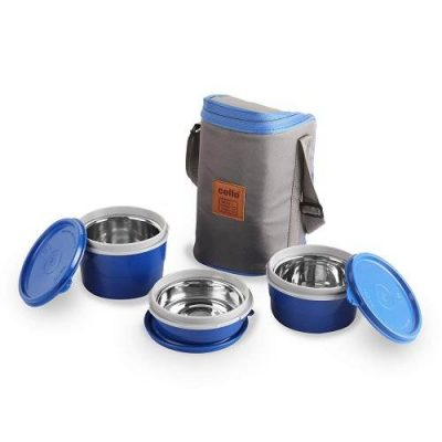 Cello Max Fresh Exclusive Hot Wave Lunch Box Stainless