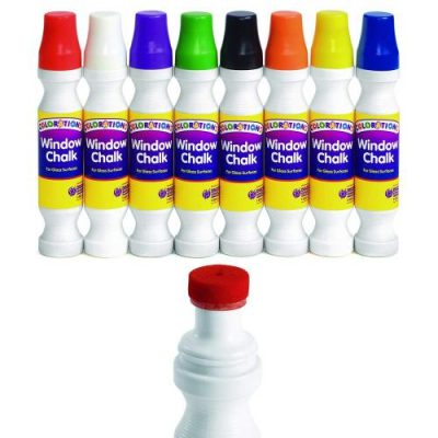 Colorations Window Chalk Set of 8