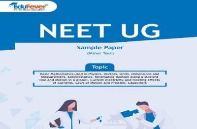 NEET UG Minor Test Sample Paper-4