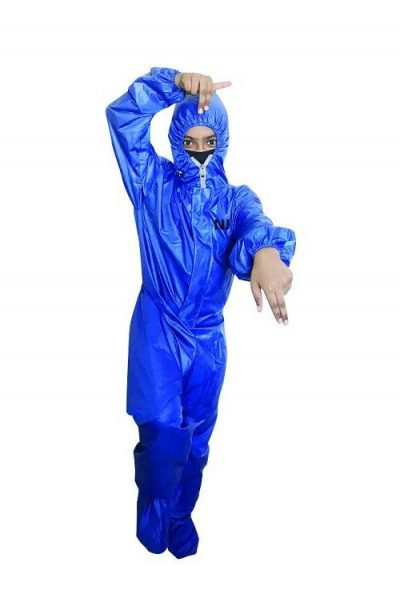 NJ PPE Kit Coverall for Kids 8-12 Year (BLUE)