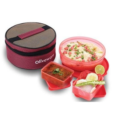 Oliveware Amaze Big Bite Lunch Box Red