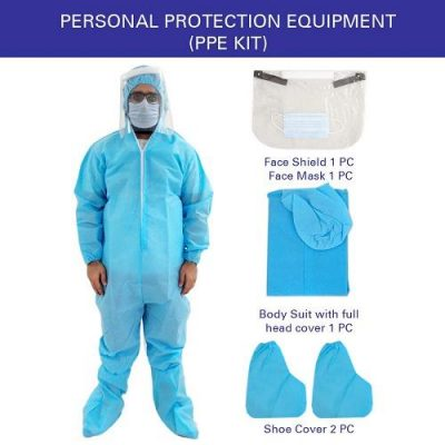 PPE Kit, Safety Coverall with Shoe Cover