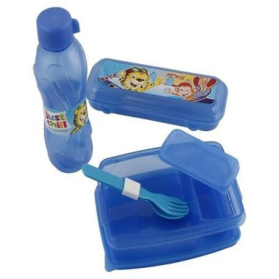 RAAYA Combo of School Set, Tiffen Box with Water Bottle with Pencil Box