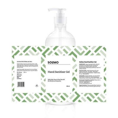 Solimo Hand Sanitizer alcohol-with Aloe Vera & Tea Tree Oil