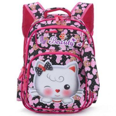 Tinytot Kitty School Backpack Bag for Girls