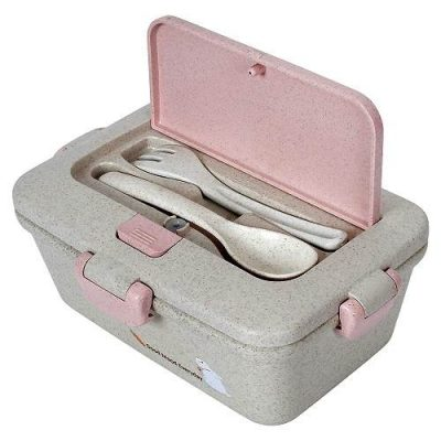 WONDERKART Eco-Friendly Biodegradable Wheat Straw Lunch Box