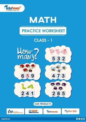 CBSE Class 1 Maths Practice Worksheet