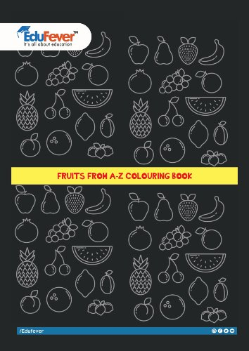 Fruits A-Z Coloring Book