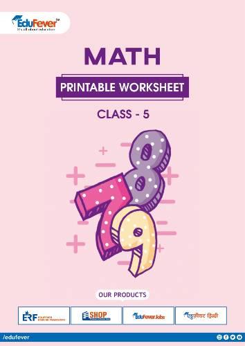 CBSE Class 5 Maths Printable Worksheet