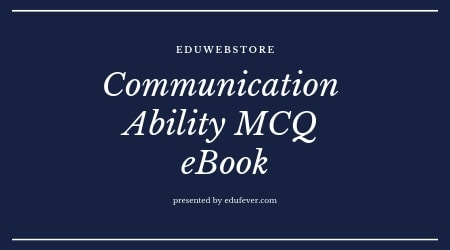 Communication Ability MCQ eBook for Competitive Examinations