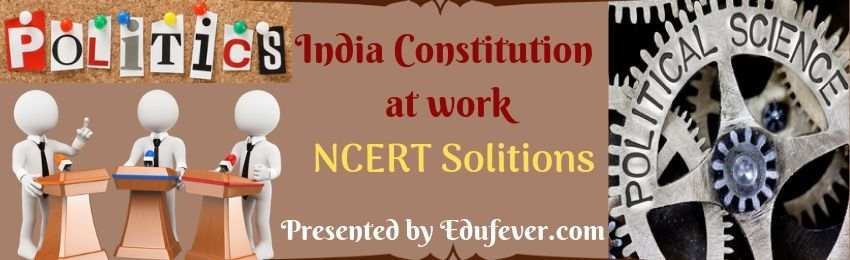 Class 11 Political Science (India Constitution at work) NCERT Solution